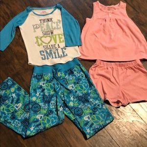 Justice Girls 8 matching PJ lot